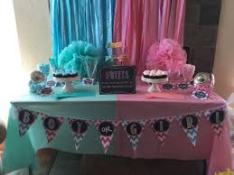 Diy Candy Buffet by Candy Buffet Fabric Banner Shannon U0026 Dennis Gender Reveal Party