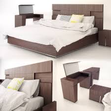 Modern Beds Modern Bed With Bedding Furniture 3d Cgtrader