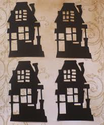 Halloween Haunted House Craft by Sizzix Tim Holtz Rickety Haunted House Halloween Die Cuts For