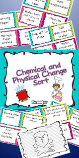 69 best physical u0026 chemical changes images on pinterest chemical