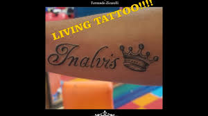 live tattoo name youtube