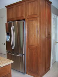 built in refrigerator cabinet surround traditional kitchens