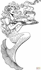 ariel mermaid coloring pages for mucha line art by mermaid mermaid coloring coloring page image