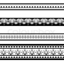 maori polynesian style tattoos designs stock photo colourbox