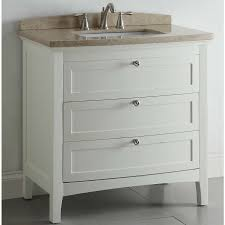 Lowes Bathroom Vanity With Sink by Shop Allen Roth Windleton 36 In X 22 In White Single Sink