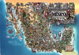 United States And Mexico Map by World Come To My Home 2395 Mexico The Map Of The Country
