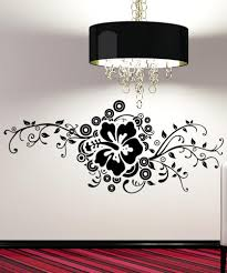 Chandelier Wall Stickers Vinyl Wall Decal Sticker Hibiscus Design 5325
