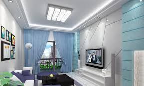 home office blue modern desc task chair white wall unit