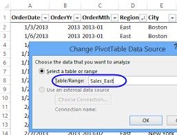 when to use pivot tables excel pivot table source data