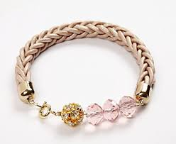 make leather cord bracelet images How to make a woven leather cord bracelet tutorial the beading jpg