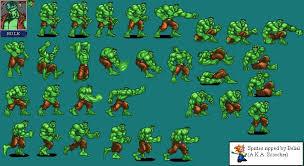 marvel super heroes hulk sprite growing geek