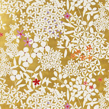 floral gift wrapping paper gold floral lace wrapping paper the container store
