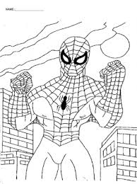 superhero sized fun free printable spiderman coloring