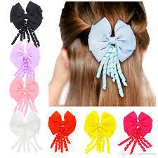 korker ribbon infant girl solid flower korker ribbon hair bows with gum