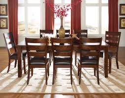 Formal Dining Room Sets For 8 Standard Furniture Abaco 7 Pc Rectangular Dining Table Set In Dark