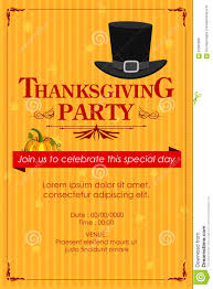 thanksgiving day date happy thanksgiving party invitation background stock vector