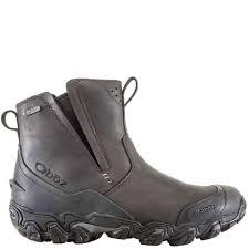 mens oboz big sky insulated slip on boots color walnut mpn 82101car