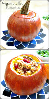 vegan thanksgiving food vegan stuffed pumpkin inhabited kitchen