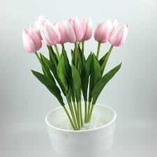 Artificial Flower Decoration For Home 2017 Tulips Display Flower Wedding Gift Carnival Party Decoration