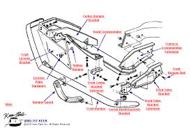 1978 corvette front bumper keen corvette parts diagrams