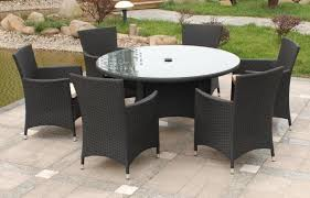 Patio Table And 6 Chairs Endearing Black Wicker Patio Furniture Pvc Throughout Outdoor