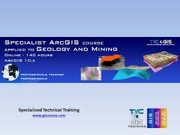 gis class online arcgis course applied to geology and mining online