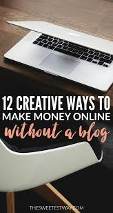 Make Money Online Blogs - creative ways to make money online without a blog