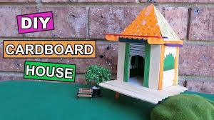 diy cardboard house for project completed tutorial