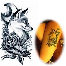 waterproof temporary sticker s wolf tatto flash