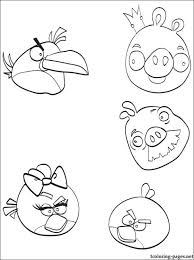 angry birds coloring coloring pages