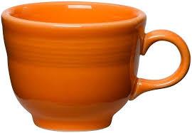 Fiesta Toaster 8oz Teacup Coffee Mug Tangerine Orange From Fiesta Dinnerware