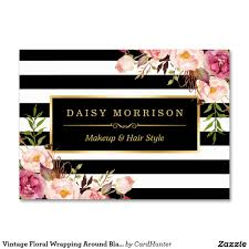 vintage floral wrapping around black white stripes large business