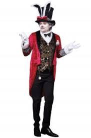 Mad Hatter Halloween Costume Men Alice Wonderland Costumes Purecostumes