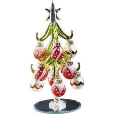 christmas tree shop ls buy ls arts inc glass christmas tree with 9 wine markers ornaments