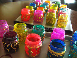 diy mason jars looks cool could work for a bollywood themed