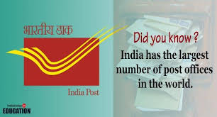 fact of the day india has the largest number of post offices in the