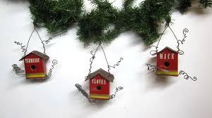 vintage spice tin birdhouse tree ornaments flickr