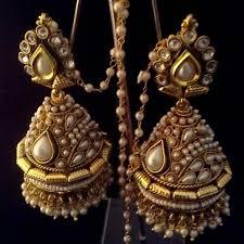 bridal jhumka earrings buy bridal heavy ethnic big pearl kundan jhumka india earrings