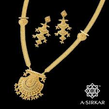 bibiana a quintessentially bengali necklace in rich yellow 22k