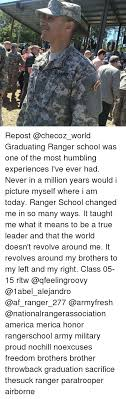 Ranger School Meme - e repost graduating ranger school was one of the most
