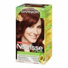 reddish brown hair color garnier nutrisse cream permanent hair colour 56 medium reddish