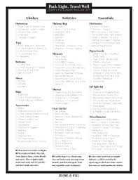 packing list form printable travel packing list europe edit fill out u0026 download