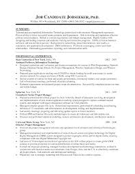 managers resume format it manager resume example project manager