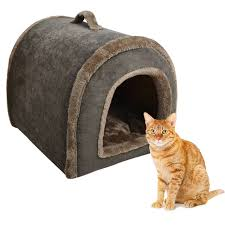 dog nesting bed good quality corduroy pet bed indoor home cat dog house cave comfy