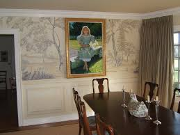 Grisaille Murals Traditional Dining Room Cincinnati By Kim - Dining room mural