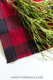 no sew buffalo plaid table runner on sutton place