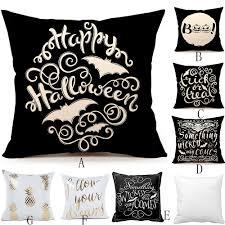 online get cheap gold throw pillows aliexpress com alibaba group happy halloween gold foil fashion throw pillow cover decorative pillowcase cotton linen throw pillow cover party home decor