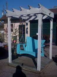 free standing porch swing diy home design ideas