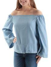 light blue off the shoulder top rachel roy womens 1471 light blue off shoulder kimono sleeve top xs