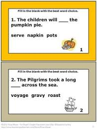 thanksgiving vocabulary